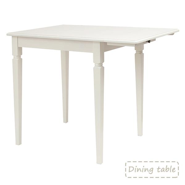 ダイニングテーブル テーブル 折りたたみ 天然木 アンティーク調 北欧 ダイニング テーブル 白 白い 折り畳み 一人暮らし 引越し 新生活 ホワイト かわいい おしゃれ シンプル リビング リビングルーム 白色 女性 木製家具 木製 インテリア アンティーク レトロ