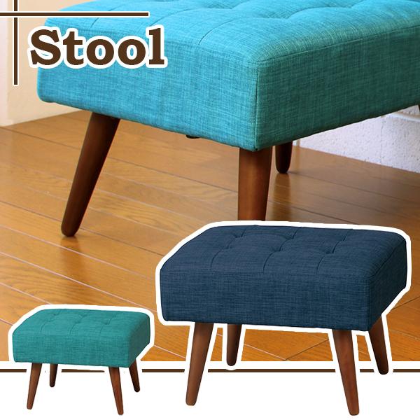 スツール 椅子 チェア オットマン シンプル おしゃれ コンパクト インテリア いす 家具 ロースタイル カフェ レトロ 1人掛け イス かわいい ロースツール 北欧 モダン 背もたれなし 腰掛け ロータイプ リビング カワイイ 低め おすすめ 天然木 ネイビー 布