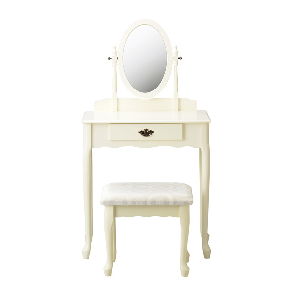Dresser Princess of white antique White House fixture Chair with stool set  helpful mirror makeup units ... - Atom-style Rakuten Global Market: Dresser Princess Of White