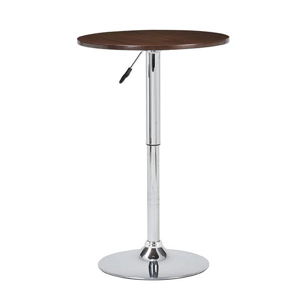 ダイニングテーブル カウンターテーブル 円形 丸テーブル バーテーブル 丸 カフェ風 ティーテーブル 60 昇降式 ハイテーブル カフェテーブル ダイニングテーブル ラウンドテーブル ブラウン ガス圧テーブル 北欧 円卓 おしゃれ ひとり暮らし モデルルーム ハイタイプ