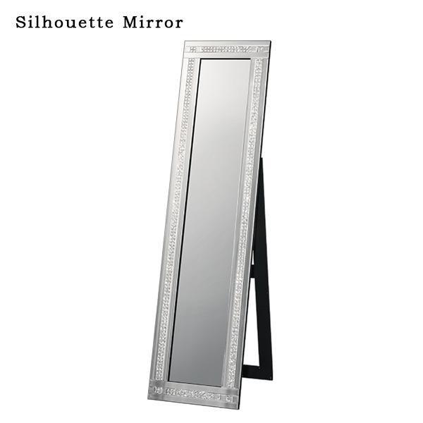 スタンドミラー 姿見 シルエットミラー 全身鏡 ミラー 鏡 立て鏡 おしゃれ お祝い 立て 1人暮らし インテリア リビング家具 寝室 新生活 高級感 新築祝い かわいい 女性 おすすめ スタイリッシュ リビング 化粧室