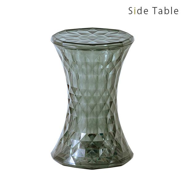 サイドテーブル 丸 おしゃれ スケルトン 透明 シンプル テーブル カラフル リビング ダイニング エントランス インテリア お祝い 新生活 1人暮らし 高級感 ディスプレイ カラーバリエーション