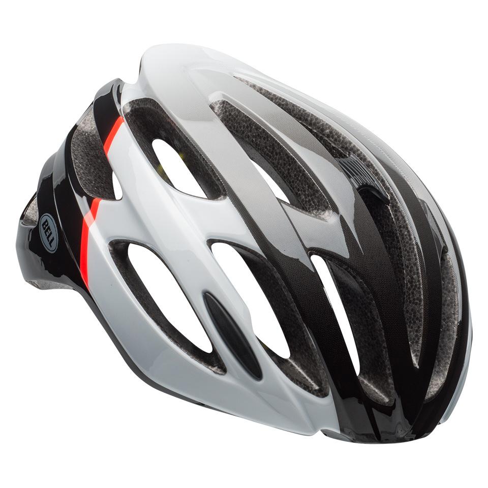ベル ロードバイク ヘルメット ファルコン ミップス BELL FALCON Mips グロスホワイト/インフレッド/ブラック Mサイズ(55-59cm) 7087898