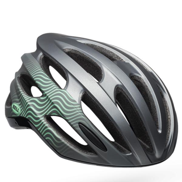 ベル ロードバイク ヘルメット フォーミュラ ミップス BELL FOMULA Mips グロスガンメタル/ミント/ブラック Mサイズ(55-59cm) 7100920