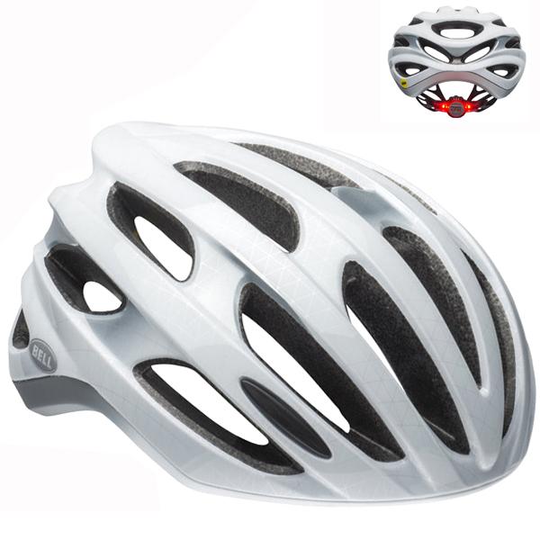ベル ロードバイク ヘルメット フォーミュラ LED BELL FOMULA LED ホワイト/シルバー Mサイズ(55-59cm) 7101774