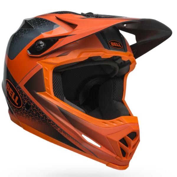 BELL ベル フルフェイス ヘルメット フル 9 BELL FULL 9 スレート/オレンジ Lサイズ(57-59cm) 7101362 BMX マウンテンバイク ヘルメット