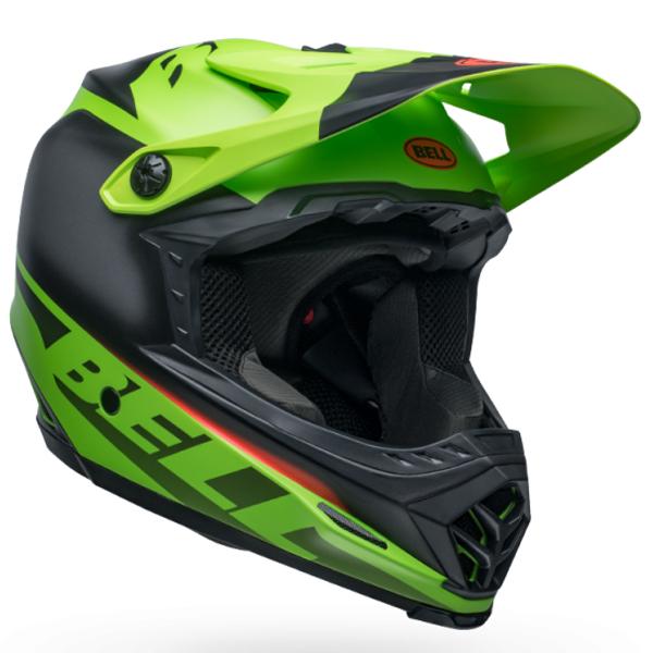 BELL ベル フルフェイス ヘルメット フル 9 BELL FULL 9 フュージョン ミップス マット グリーン/ブラック Lサイズ(57-59cm) 7105074 BMX マウンテンバイク ヘルメット