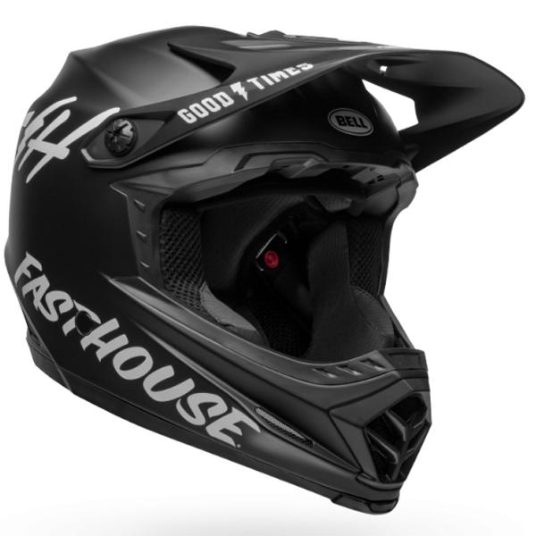BELL ベル フルフェイス ヘルメット フル 9 BELL FULL 9 フュージョン ミップス マット ブラック/ホワイト Lサイズ(57-59cm) 7105062 BMX マウンテンバイク ヘルメット