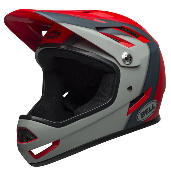 ベル BMX フルフェイス ヘルメット サンクション BELL SANCTION マット クリムゾン/スレート/グレー Lサイズ(58-60cm) 7100158
