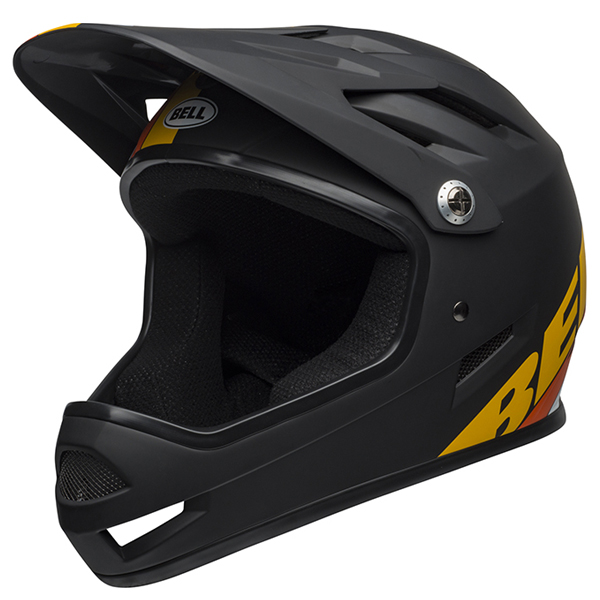 ベル BMX フルフェイス ヘルメット サンクション BELL SANCTION マット ブラック/イエロー/オレンジ Lサイズ(58-60cm) 7100142