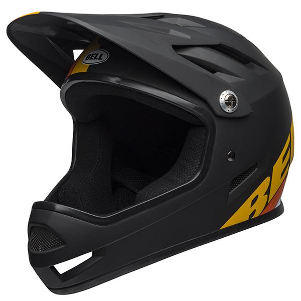 ベル BMX フルフェイス ヘルメット サンクション BELL SANCTION マット ブラック/イエロー/オレンジ Sサイズ(52-54cm) 7100140
