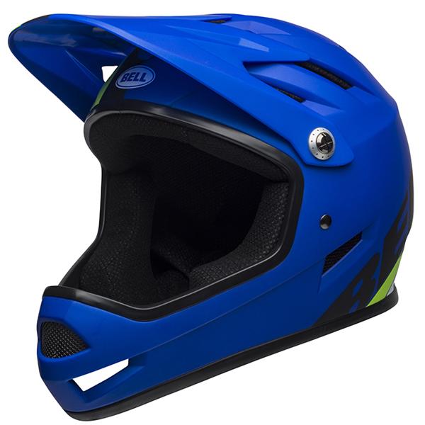 ベル BMX フルフェイス ヘルメット サンクション BELL SANCTION マット ブルー/ブライトグリーン Lサイズ(58-60cm) 7100150