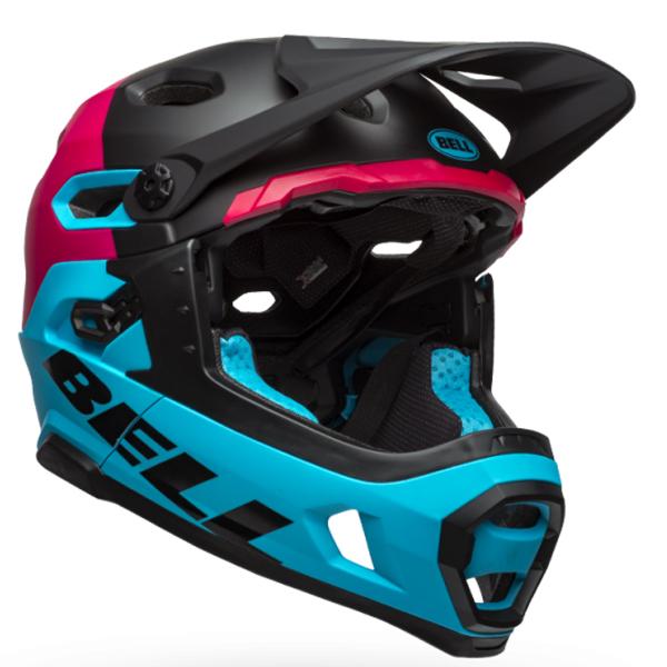 ベル フルフェイス ヘルメット スーパー DH ミップス BELL SUPER DH Mips ブラック/ベリー/ブルー Mサイズ(55-59cm) 7101440