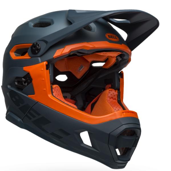 ベル フルフェイス ヘルメット スーパー DH ミップス BELL SUPER DH Mips スレート/オレンジ Lサイズ(58-62cm) 7101465