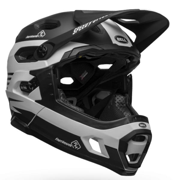 ベル フルフェイス ヘルメット スーパー DH ミップス BELL SUPER DH Mips ブラック/ホワイト ファストハウス Lサイズ(58-62cm) 7101486