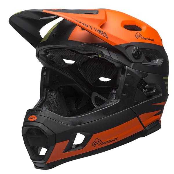 ベル フルフェイス ヘルメット スーパー DH ミップス BELL SUPER DH Mips ファストハウス マットグリーンオレンジ Lサイズ(58-62cm) 7096026