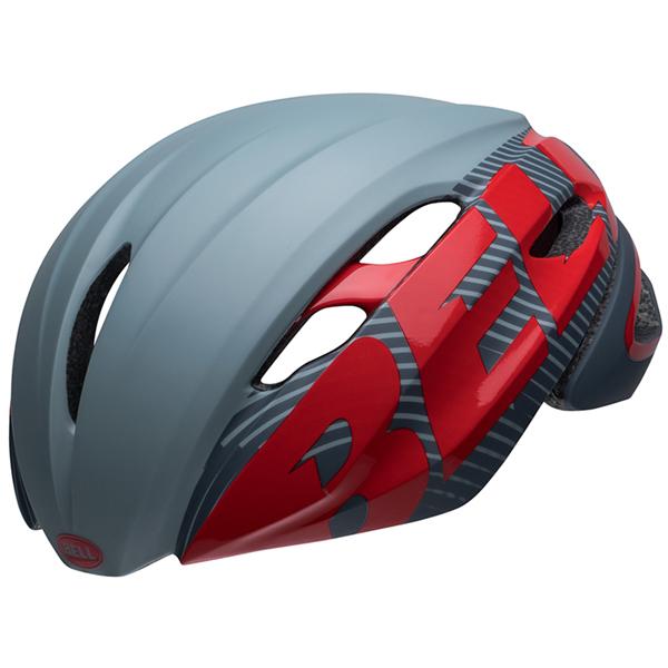 ロードバイク ヘルメット Z20 エアロ BELL Z20 AERO Mips グレー/クリムゾン Lサイズ(58-62cm) 7106007