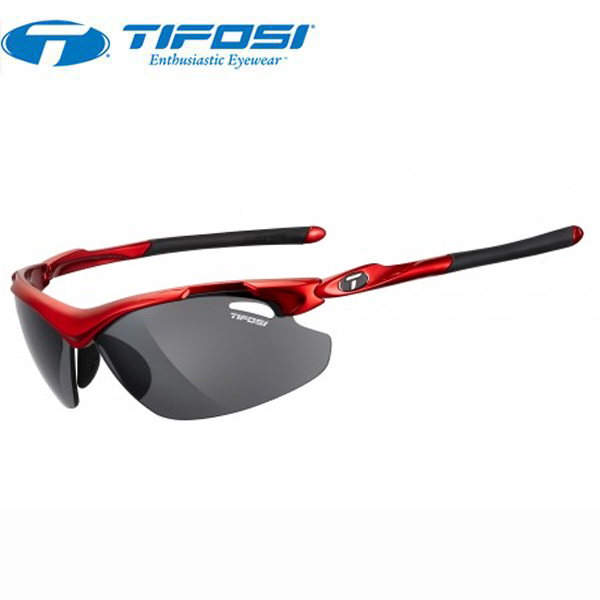 TIFOSI (ティフォージ) 自転車 サングラス TYRANT2.0 タイラント2.0 メタリックレッド・スモーク/ACレッド/クリア 1120102701
