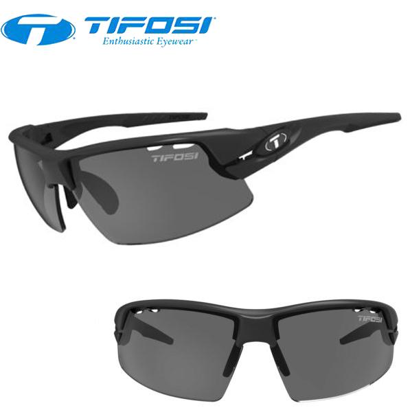 TIFOSI (ティフォージ) 自転車 サングラス CRIT クリット マットブラック スモーク/ACレッド/クリア 1340100101