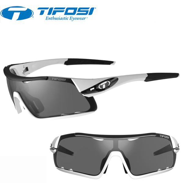 TIFOSI (ティフォージ) 自転車 サングラス DAVOS ダヴォス ホワイト/ブラック スモーク/ACレッド/クリア 1460104801