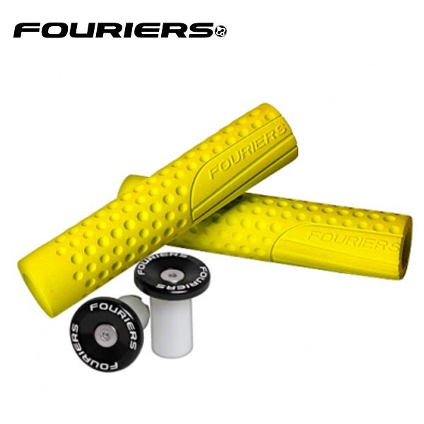 FOURIERS (フォーリアーズ) MTB グリップ イエロー 10600407:アトミックサイクル