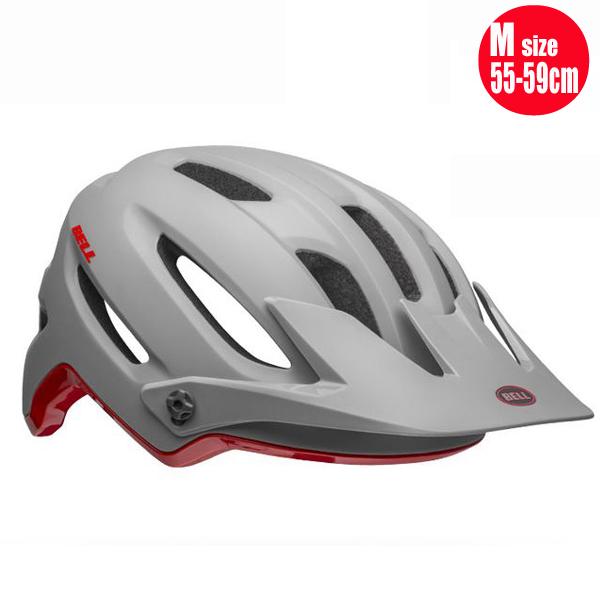 マウンテンバイク ヘルメット 自転車 ベル 4フォーティ ミップス ミップス BELL 4FORTY Mips グレー/クリムゾン M(55-59cm) マウンテンバイク ヘルメット