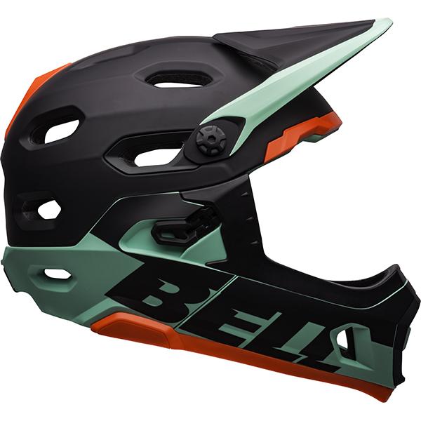 ベル スーパー DH ミップス BELL SUPER DH MIPS ブラック/グリーン Mサイズ(55-59cm) マウンテンバイク ヘルメット