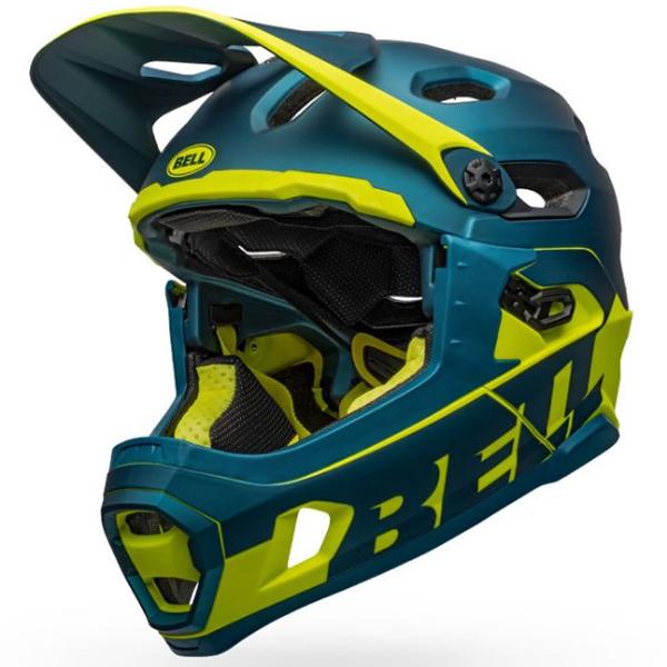 ベル スーパー DH ミップス BELL SUPER DH MIPS ブルー/ハイヴィズ Lサイズ(58-62cm) マウンテンバイク ヘルメット