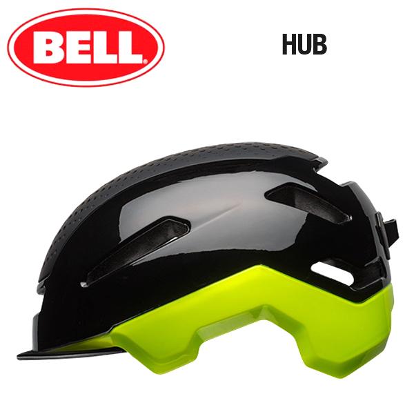 【BELL 自転車 ヘルメット】 「BELL HUB ベル ハブ」 ブラック/レティナシアー L(58-62) 7067530