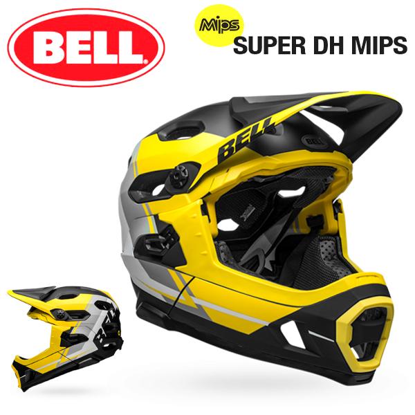 MTB ヘルメット BELL SUPER DH Mips (ベル スーパーDH ミップス) マットイエロー/スモーク/ブラックリコース Mサイズ(55-59cm)