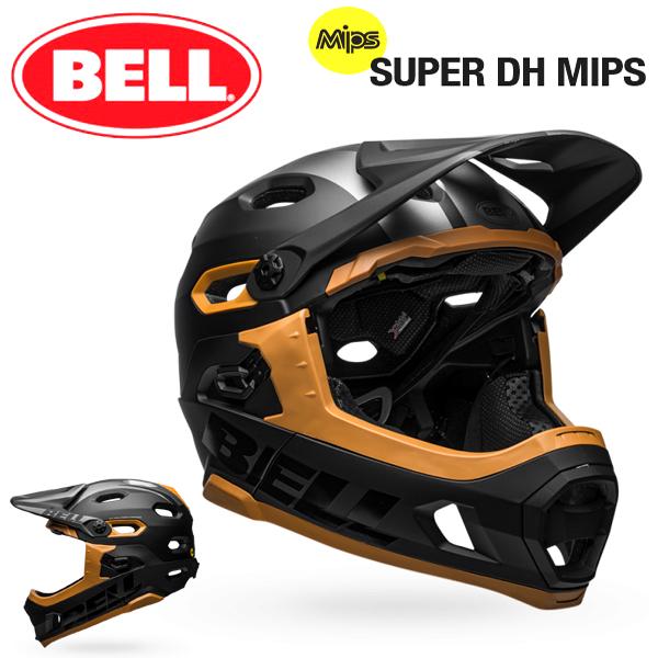 MTB ヘルメット BELL SUPER DH Mips (ベル スーパーDH ミップス) マットブラック/ガム Lサイズ(58-62cm)