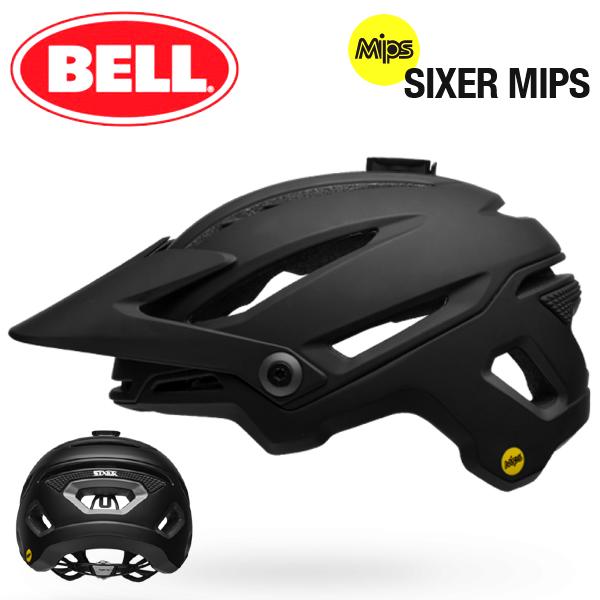 MTB ヘルメット BELL SIXER Mips (ベル シクサー ミップス) マットブラック XLサイズ(61-65cm) MTB/マウンテンバイク/ヘルメット