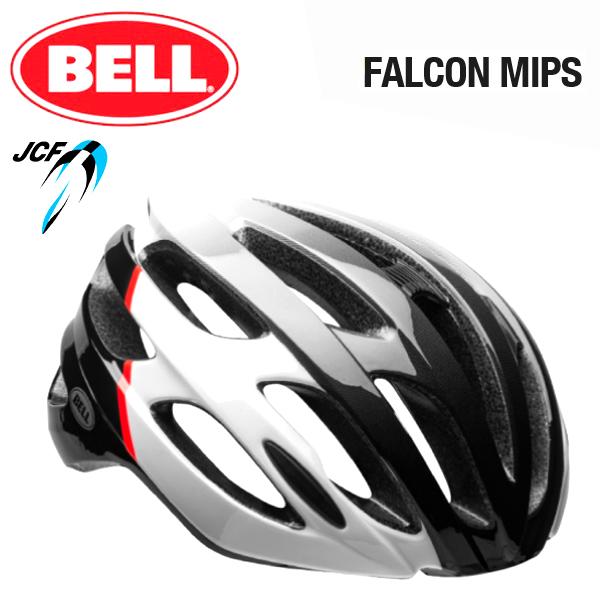 ★ 【BELL ヘルメット】 「BELL FALCON MIPS ベル ファルコン ミップス」 ファルコン ミップス グロスホワイト/インフレッド/ブラック L