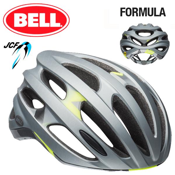 ★ 【BELL ヘルメット】 「BELL FOMULA MIPS ベル フォーミュラ ミップス」 フォーミュラ ミップス マットシルバーデコ M