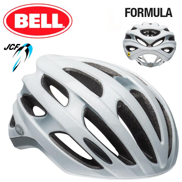 ★ 【BELL ヘルメット】 「BELL FOMULA MIPS ベル フォーミュラ ミップス」 フォーミュラ ミップス マットホワイト/シルバー M