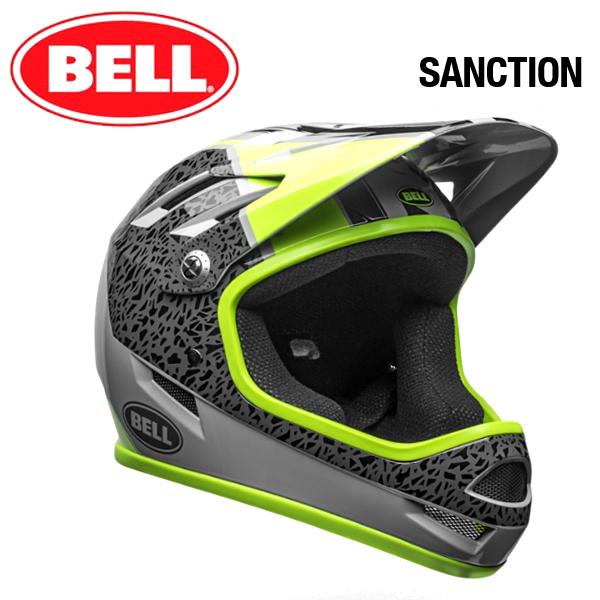 【自転車 フルフェイス】 BELL SANCTION ベル サンクション グロススモーク/ペアリパレーション Lサイズ(58-60cm) マウンテンバイク MTB BMX フルフェイス