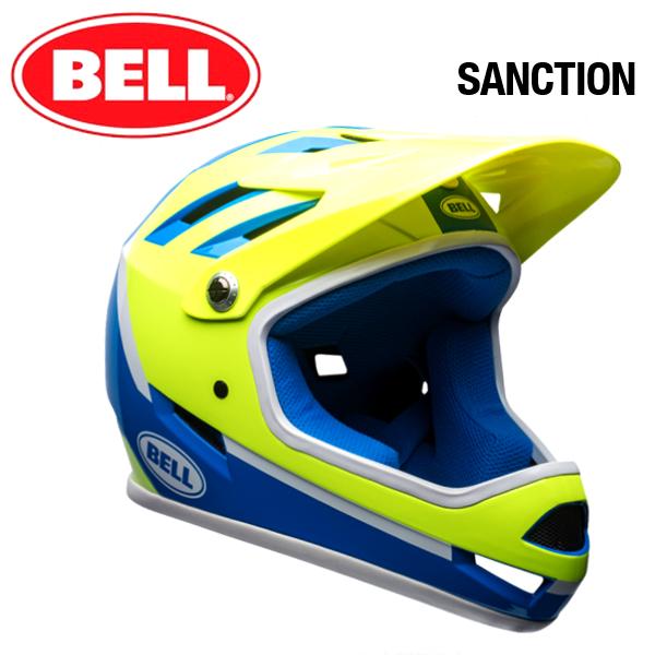 【自転車 フルフェイス】 BELL SANCTION ベル サンクション フォースブルー/レティーナシア アサシン Mサイズ(55-57cm) マウンテンバイク MTB BMX フルフェイス