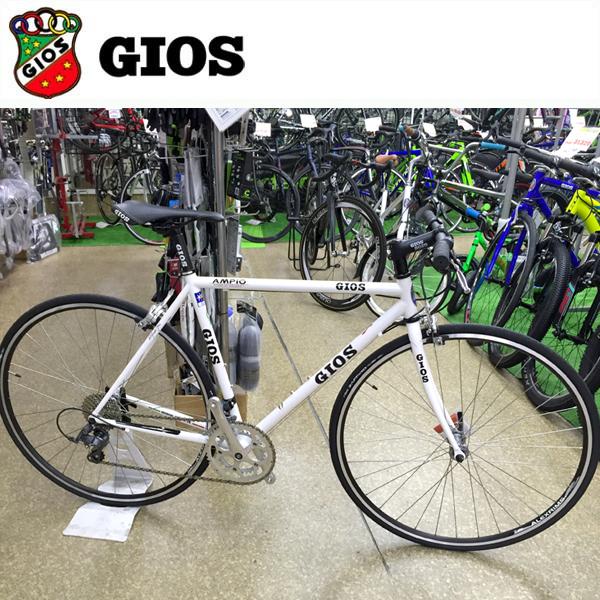 GIOS AMPIO 「ジオス アンピーオ」 ホワイト 2018 クロスバイク/フラットバー ロード/クロモリ フレーム