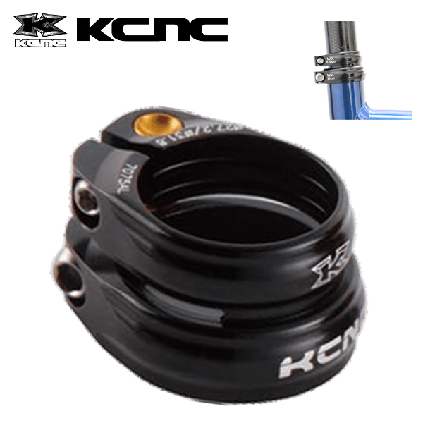 KCNC SC13 ツインクランプ 34.9/31.6MM ブラック 653391