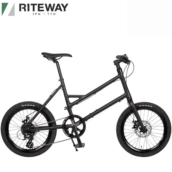 ライトウェイ グレイシア RITEWAY オリジナル GLACIER 送料無料 新色 マットブラック ミニベロ 自転車 2021