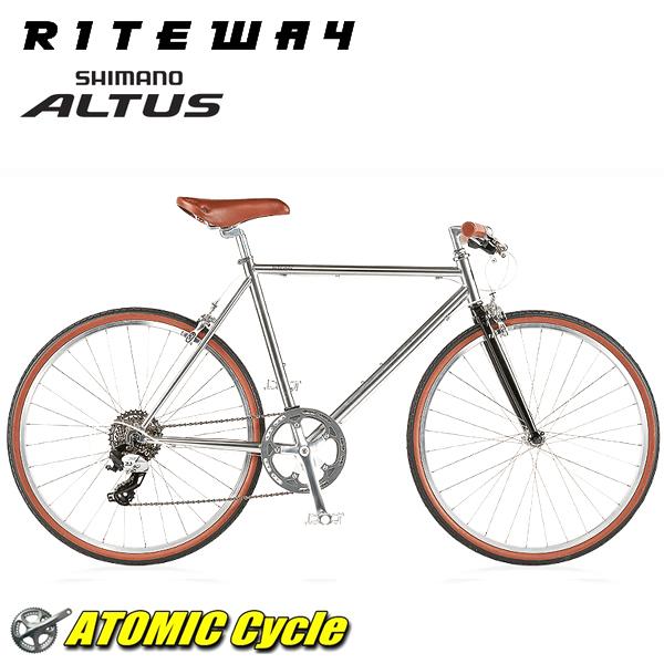 ライトウェイ クロスバイク RITEWAY STYLES ラトウェイ スタイルス グロスチタンシルバー 2018 クロスバイク