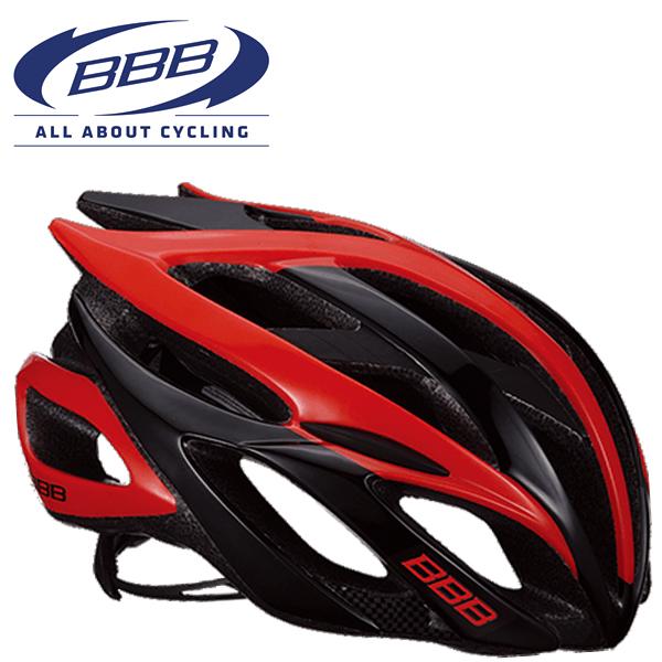 BBB FALCON V2 (BBB ファルコン V2) BHE-01 ブラック/レッド ロードバイク ヘルメット