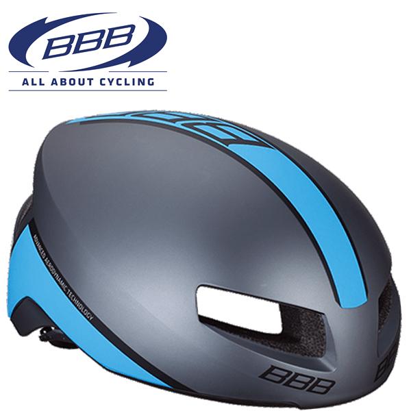 BBB TITHON V2 (BBB ティトノス V2) BHE-08 マットグレー/ブルー ロードバイク エアロ ヘルメット