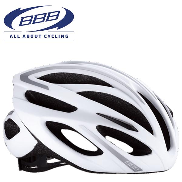 BBB TAURUS BHE-26 (BBB トーラス) ホワイト/シルバー MTB/ロード ヘルメット
