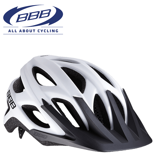 BBB VARALLO BHE-67 (BBB バラロ) ソリッドマットホワイト MTB ヘルメット