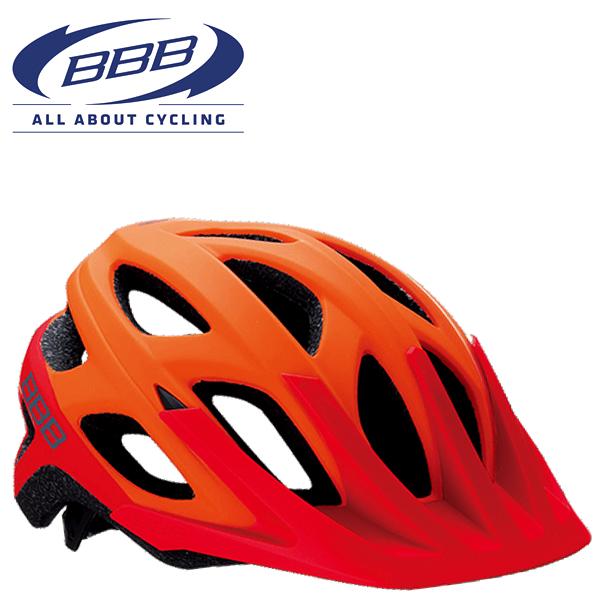 BBB VARALLO BHE-67 (BBB バラロ) マットオレンジ/レッド MTB ヘルメット