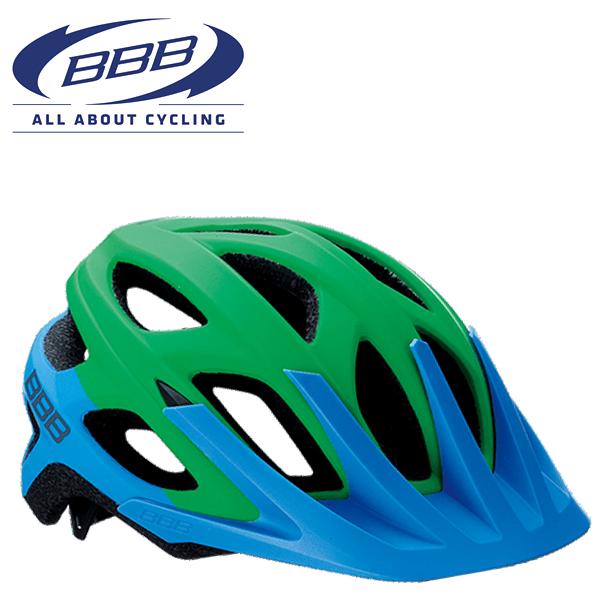 BBB VARALLO BHE-67 (BBB バラロ) マットブルー/グリーン MTB ヘルメット