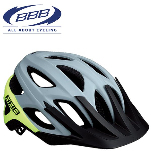 BBB VARALLO BHE-67 (BBB バラロ) マットグレー/ネオンイエロー MTB ヘルメット