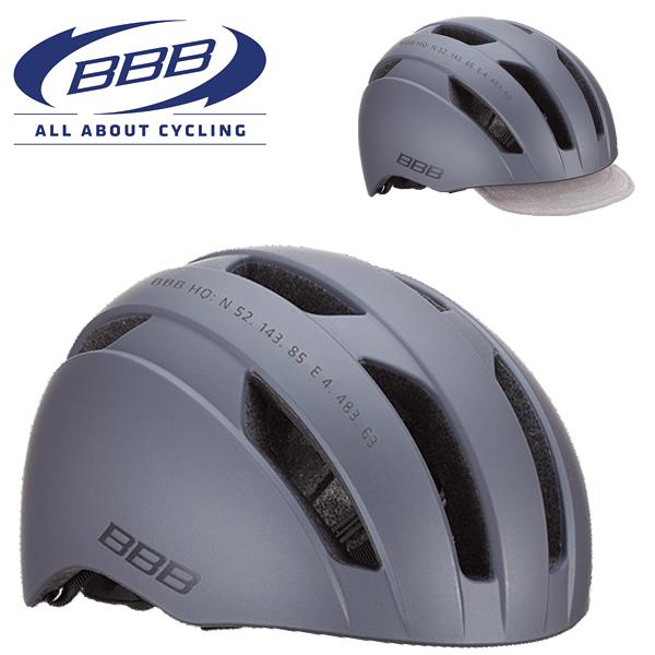 BBB METRO BHE-55 (BBB メトロ) マットダークグレー ヘルメット