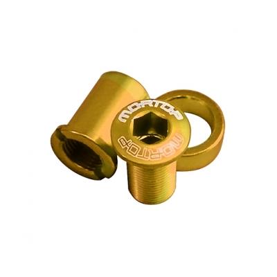 MORTOP BD-1 チェーンガード用ボルトセット 5pcs ゴールド